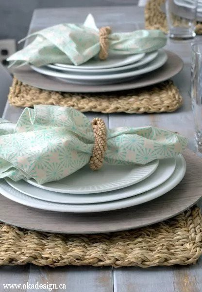 8. Quick Cloth Napkins DIY