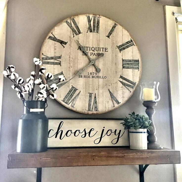 8. Rustic Clock