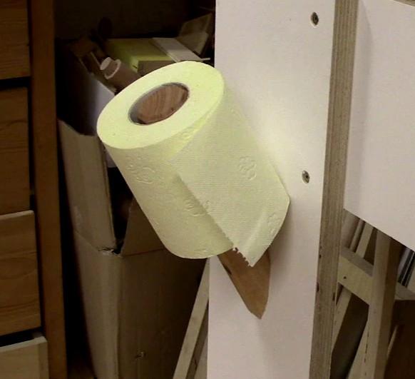 8. Simple Toilet Holder DIY