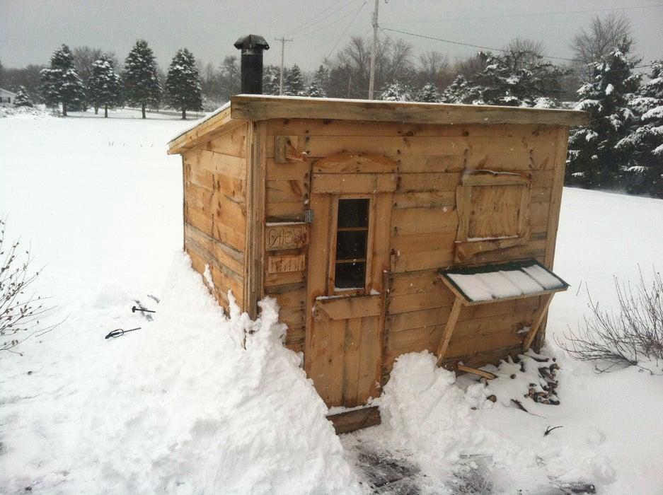 8. Wood Burning DIY Sauna