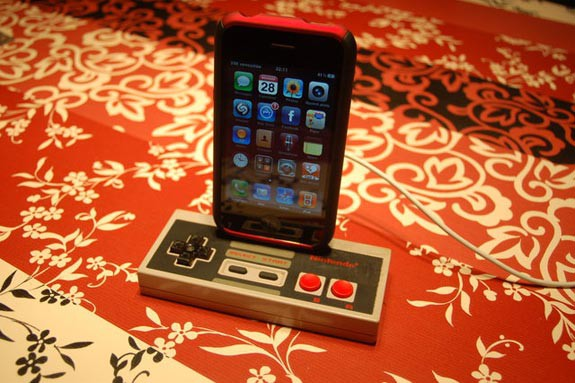 8. iPhone 3GS Dock With NES Controller