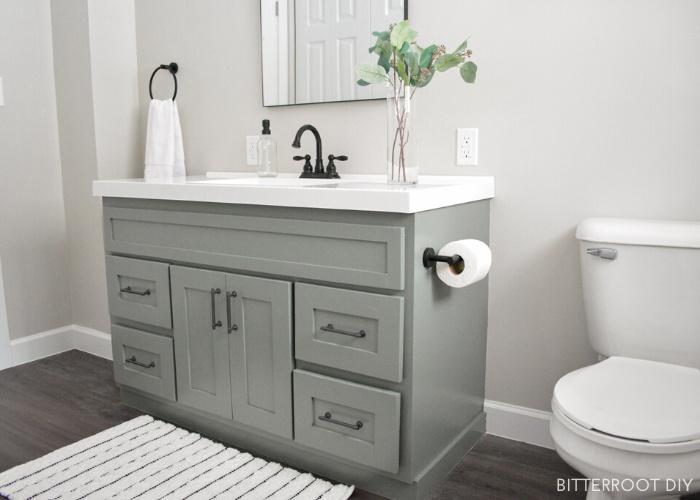 9. DIY Bathroom Vanity Makeover