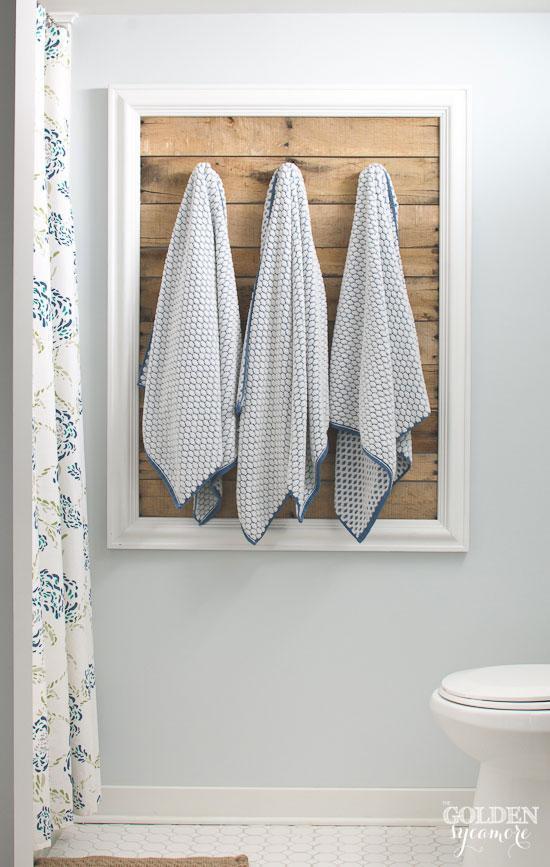 9. DIY Pallet Towel Rack
