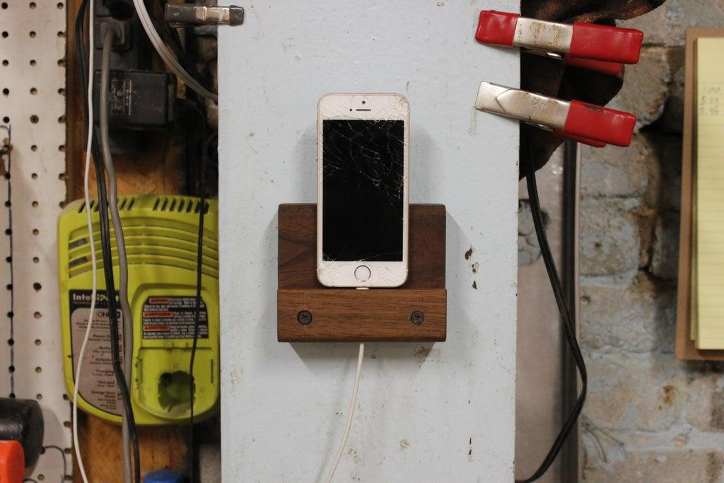 9. Hanging Magnetic iPhone Dock