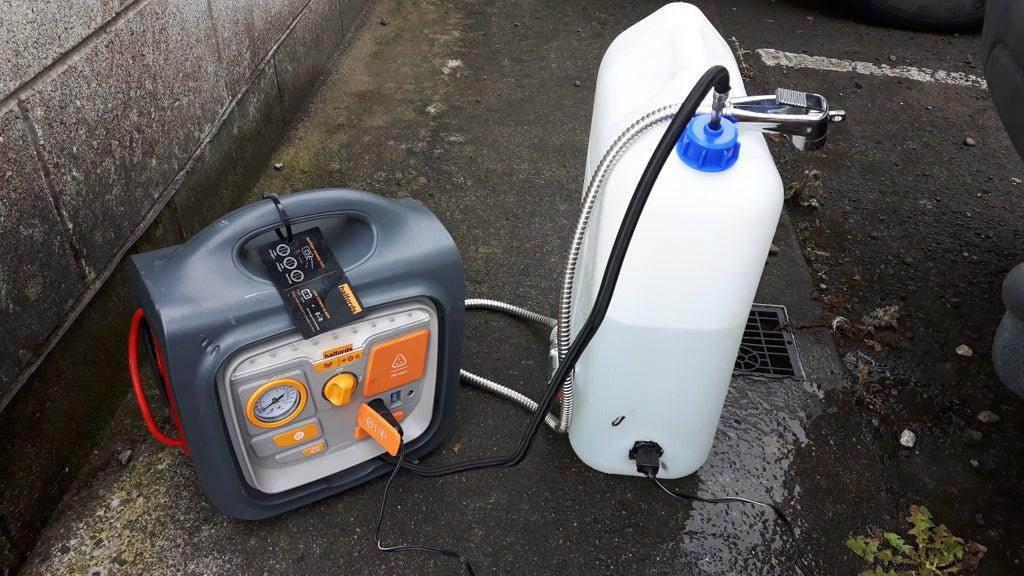9. Hot Water Outdoor Shower DIY