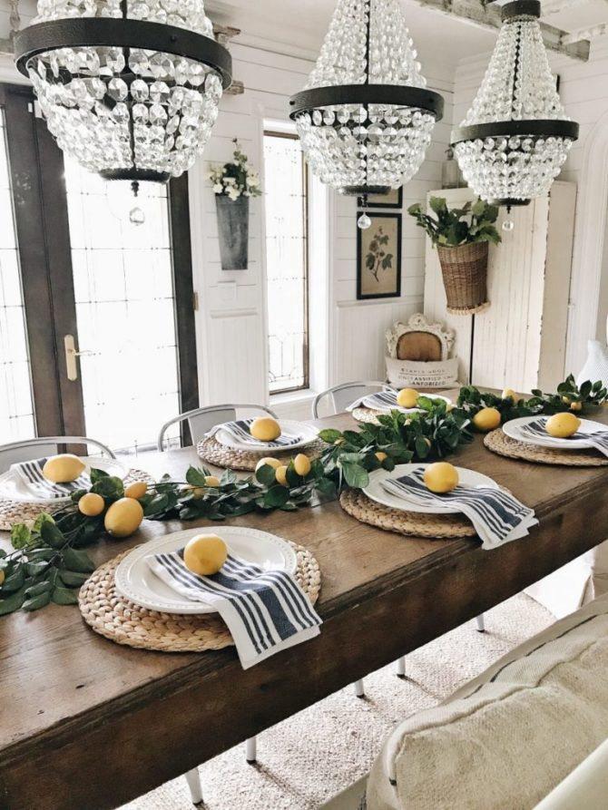 9. Lemon Kitchen Dining Decor