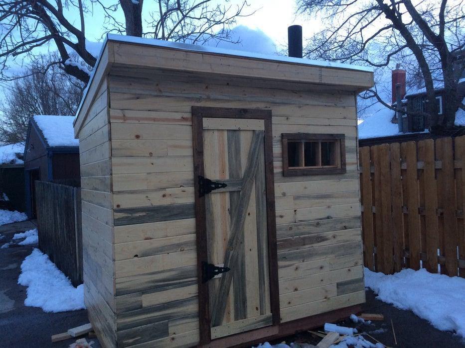 9. Wood-Fired Sauna DIY