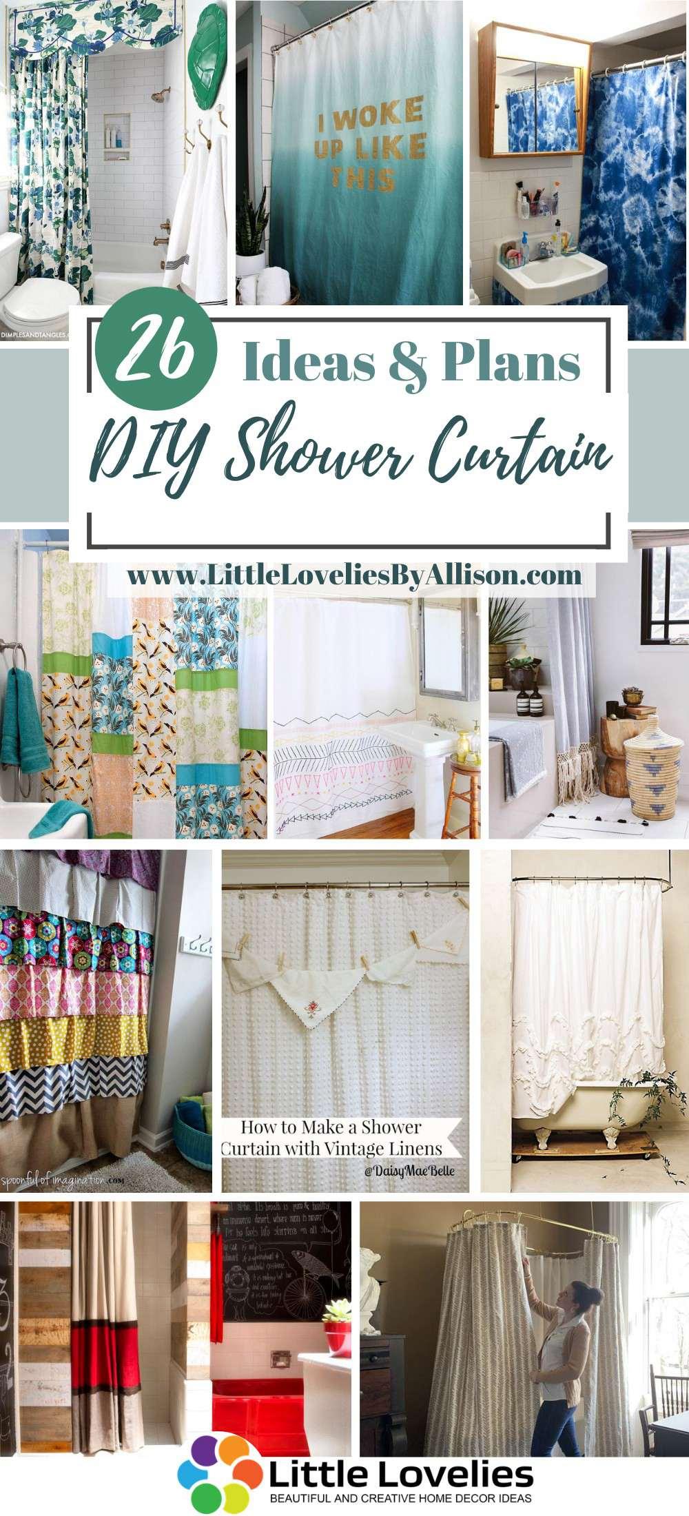 Best DIY Shower Curtain