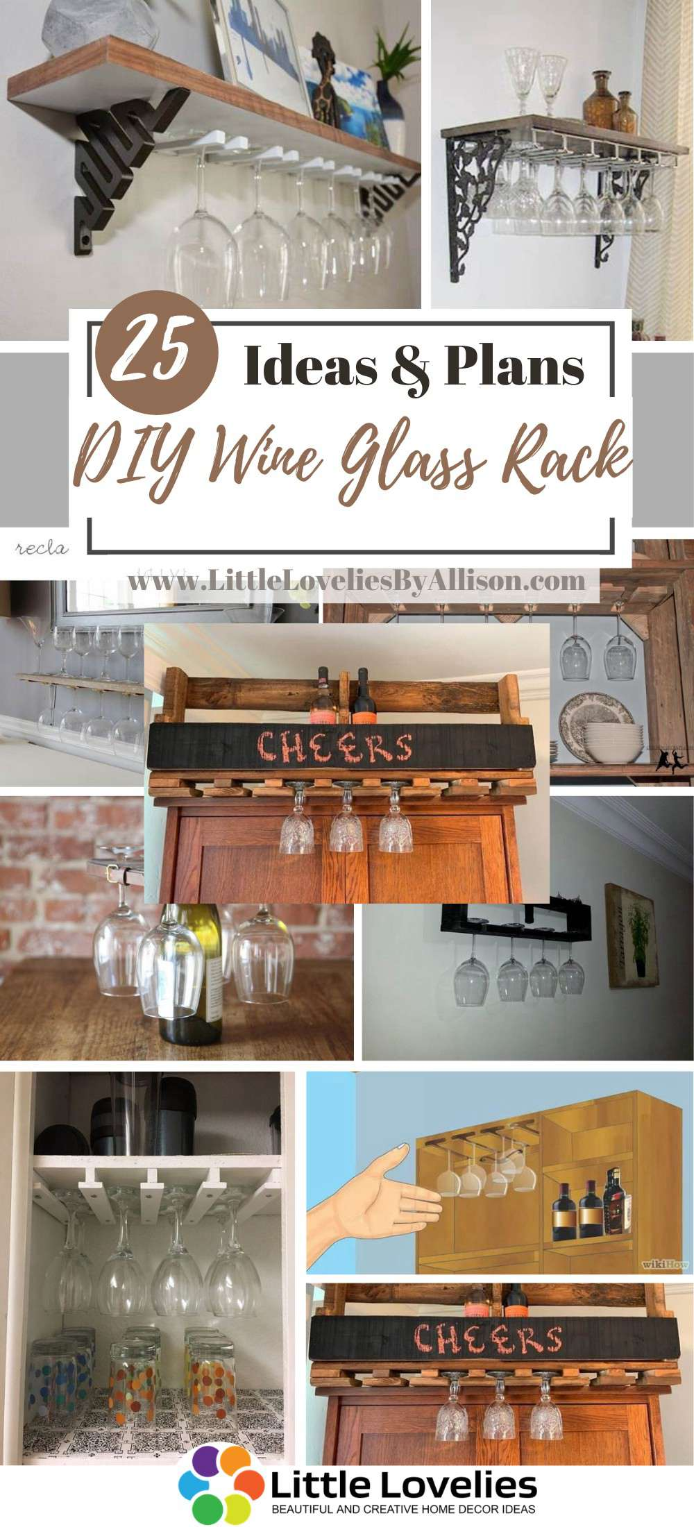 Best DIY Wine Glass Rack