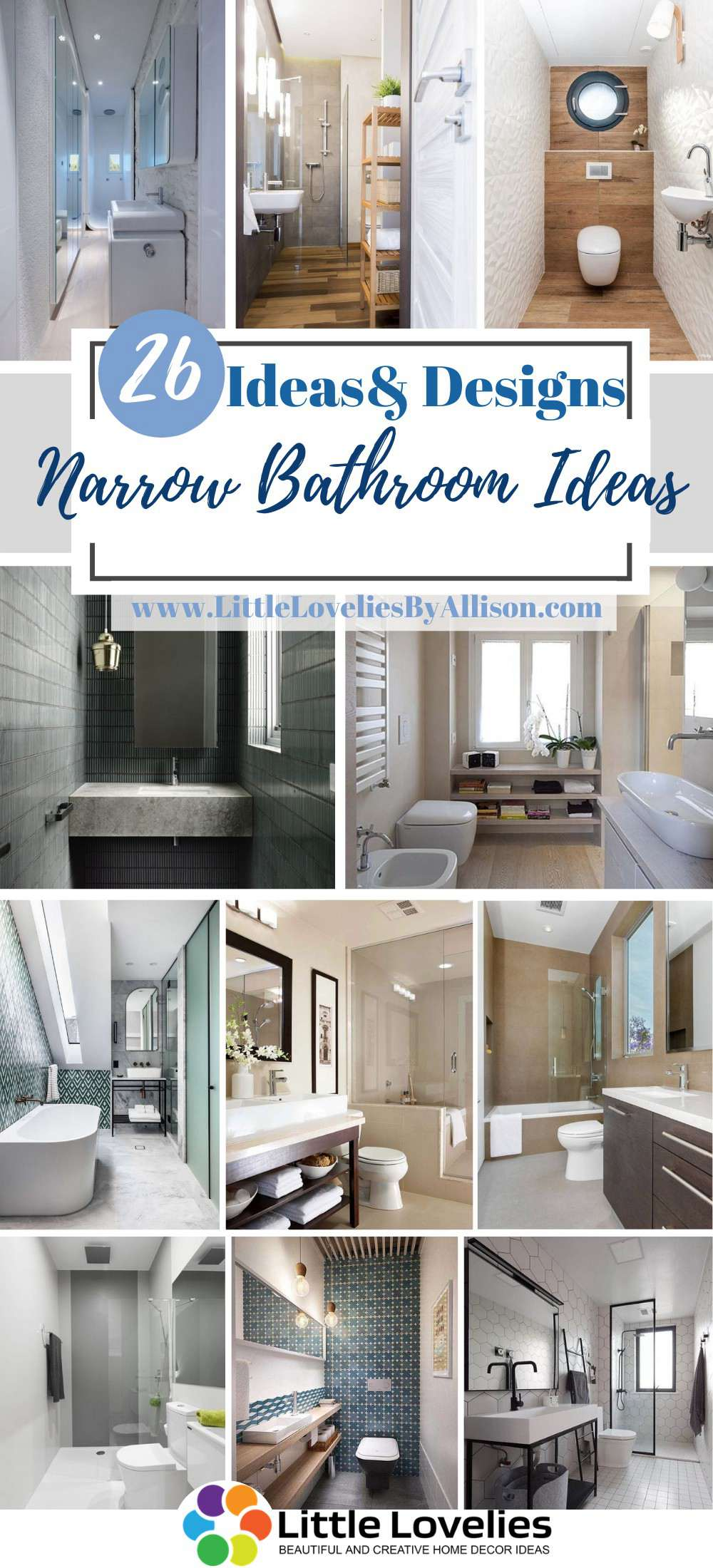 Best Narrow Bathroom Ideas