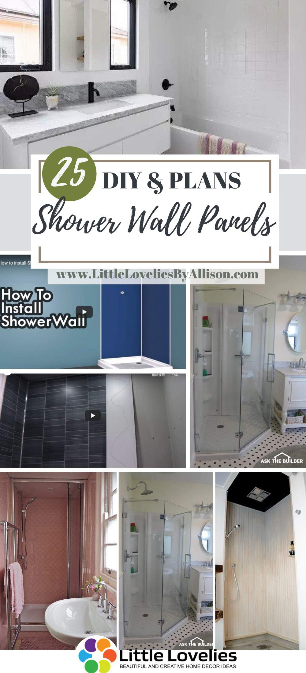 DIY Shower Wall Panels