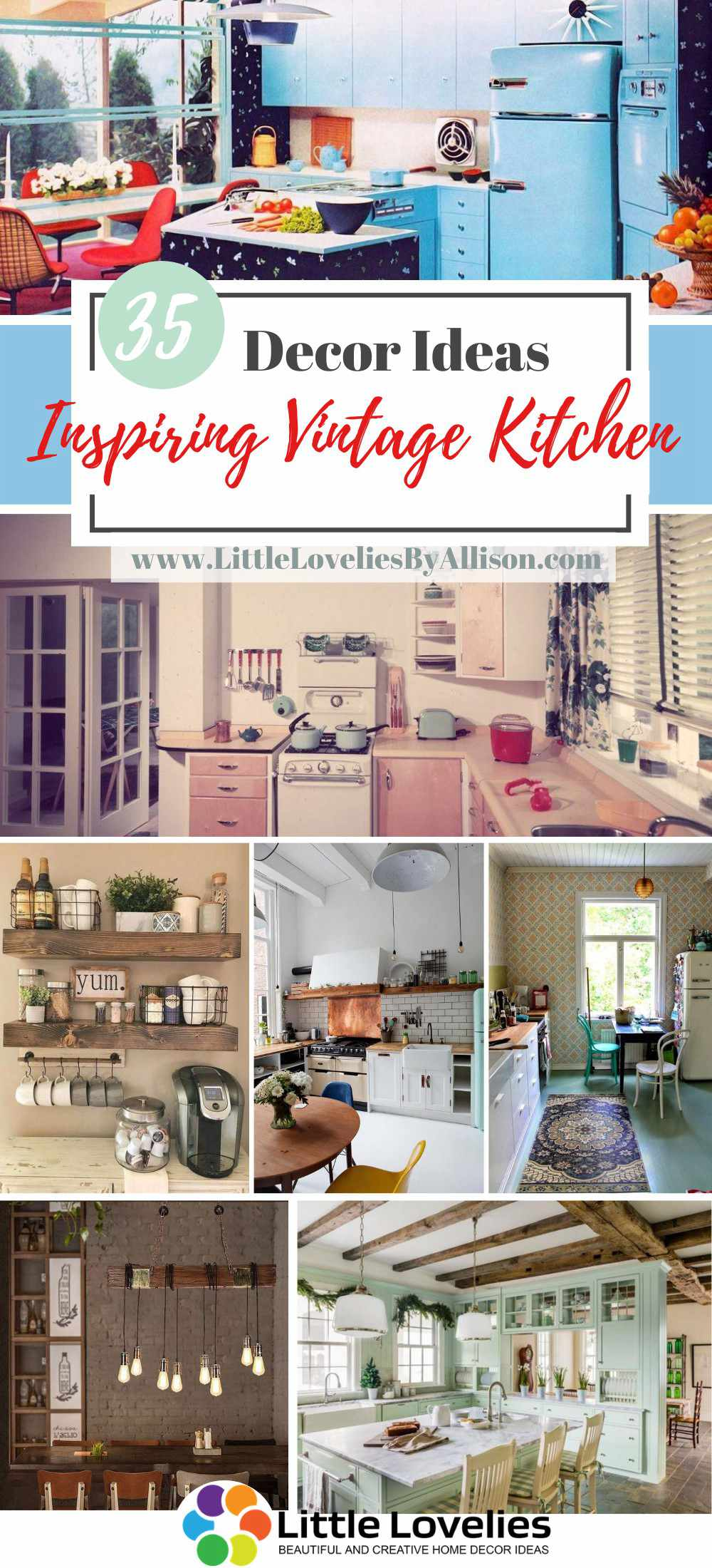 Inspiring Vintage Kitchen Decor Ideas