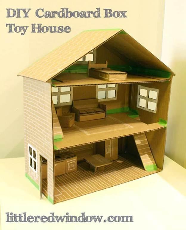 17-DIY-Doll-House-With-Cardboard-Box