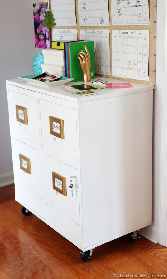 25 Diy File Cabinet Projects How To, Stylish File Cabinet