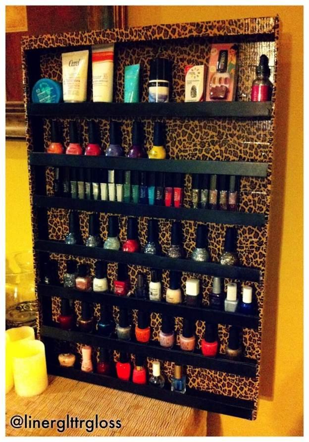 17-Leopard-Skin-Nail-Polish-Rack-DIY