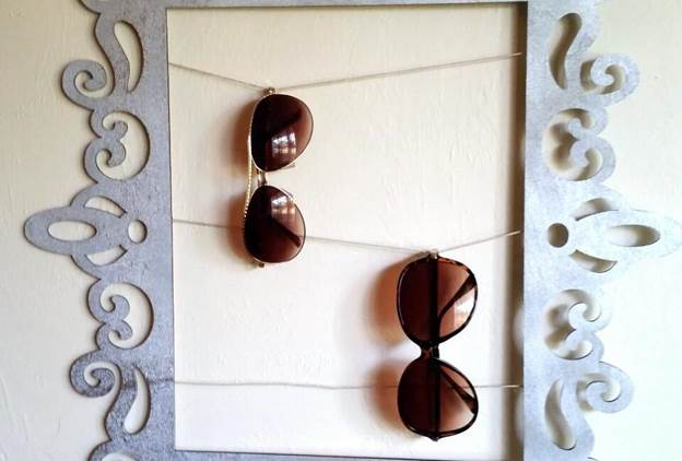 18-DIY-Framed-Sunglasses-Holder
