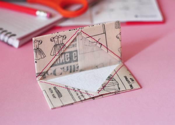 2-DIY-Fabric-Origami-Business-Card-Holder