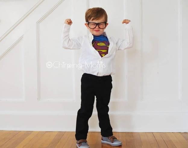 4-DIY-Clark-Kent-Costume-For-Kids