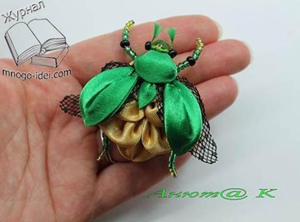 8-DIY-Beetle-From-Satin-Ribbon