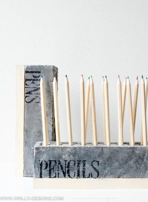 9-Concrete-Style-Pencil-Holder