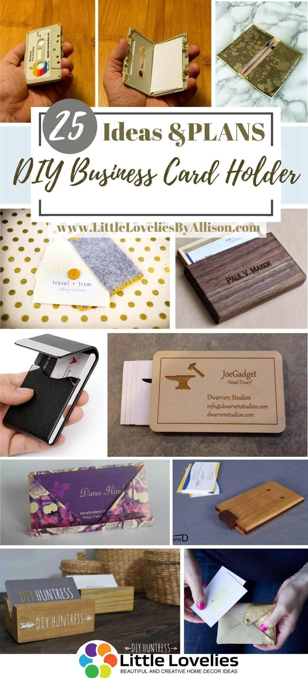 25 Diy Business Card Holder How To