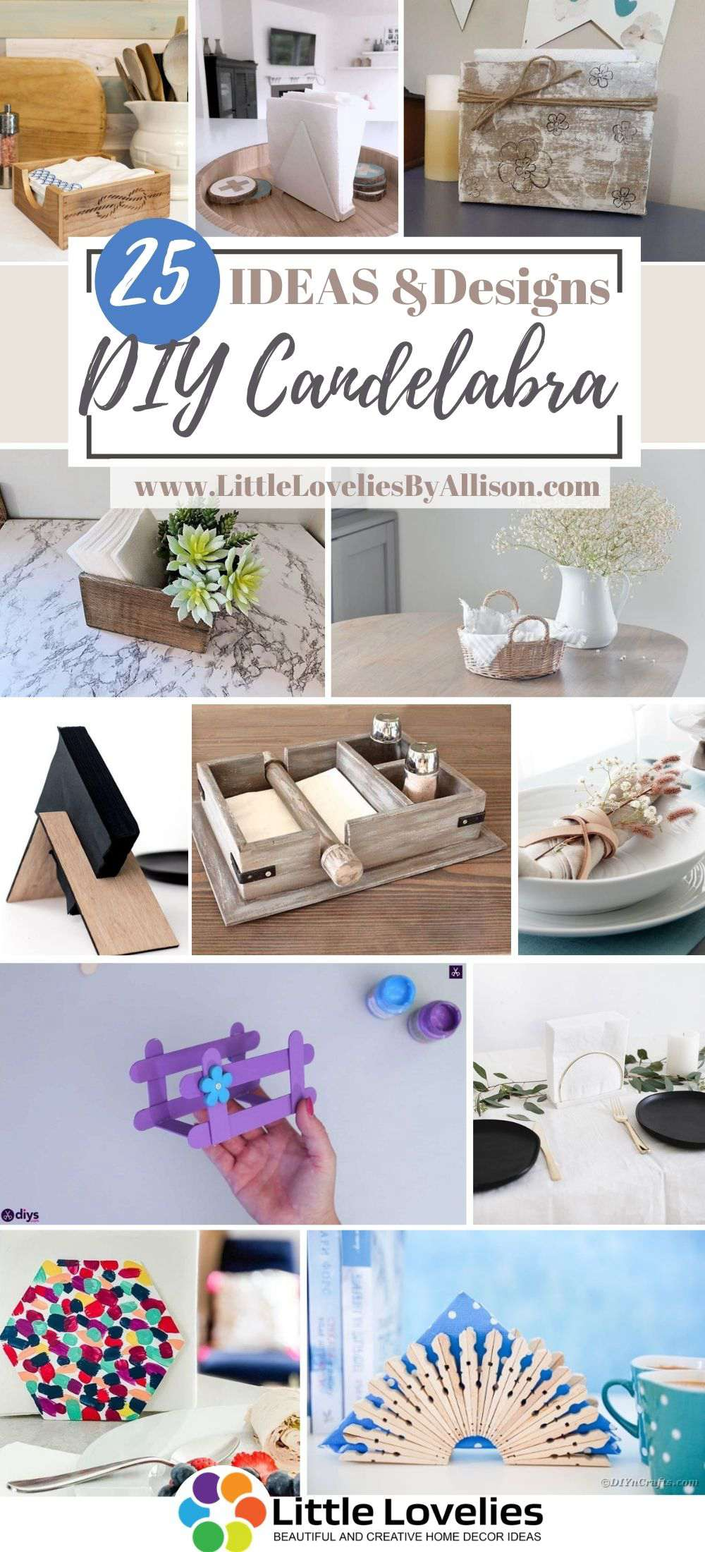 25 Diy Napkin Holder Projects How To Make A Napkin Holder