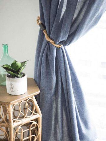 DIY Curtain Tie Back Projects