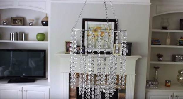 1. DIY Crystal Chandelier Tutorial