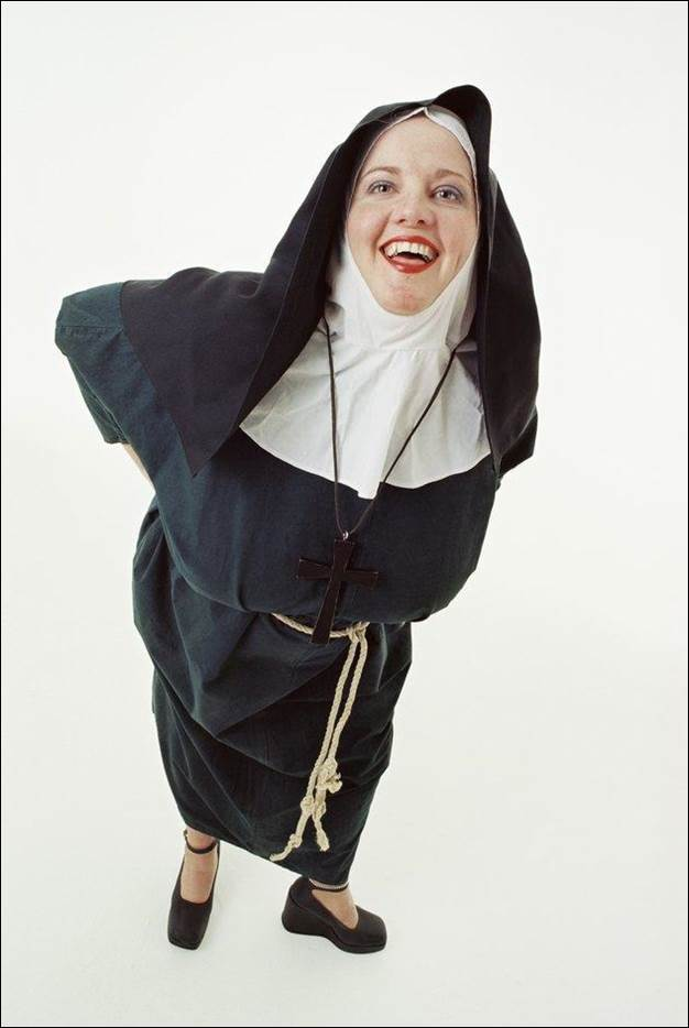 1. DIY Last Minute Nun Costume
