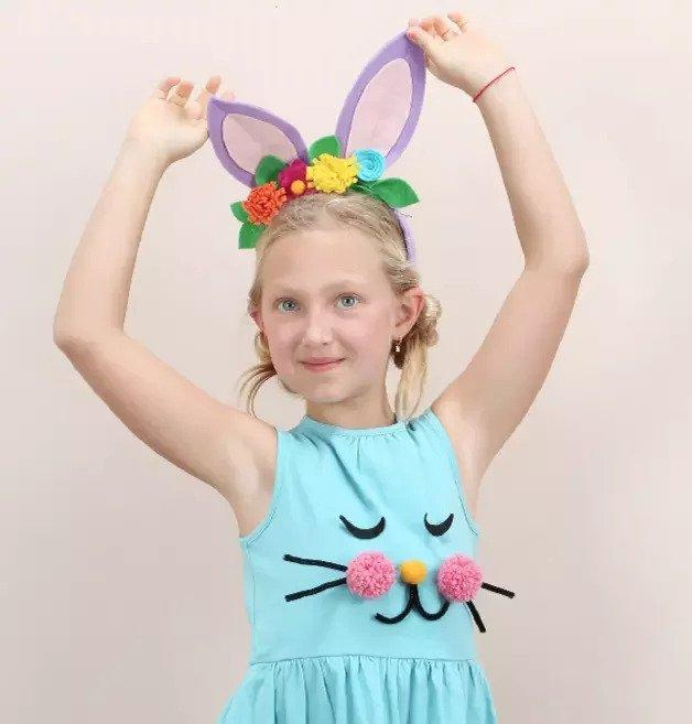 10. DIY No-Sew Bunny Ears