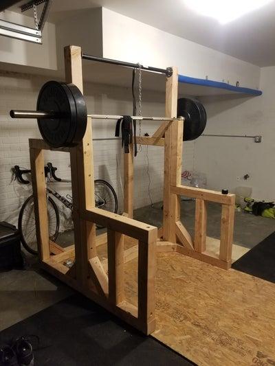 10. DIY Squat Rack Pull-Up Bar