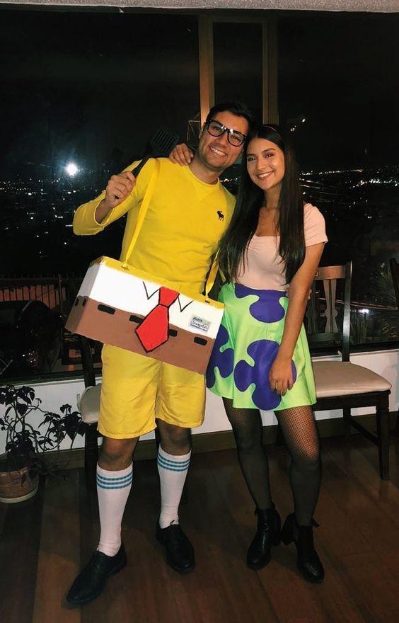 13. Sponge Bob And Patrick Couple Costume Idea