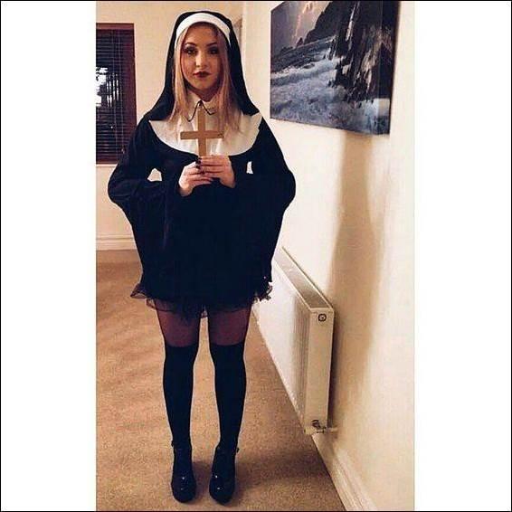 15. Cute Nun Costume Idea