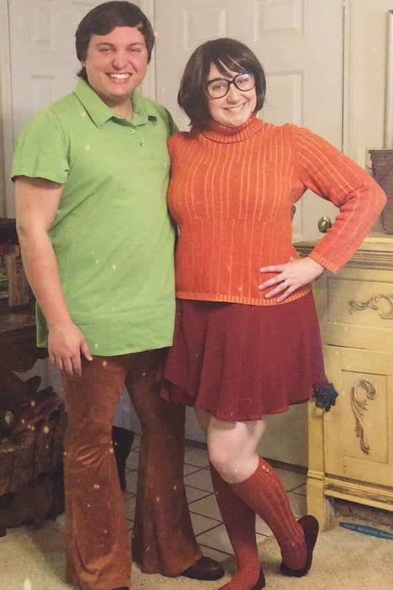 15. DIY Shaggy And Velma Costume