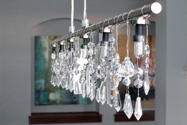 16. DIY Linear Crystal Chandelier