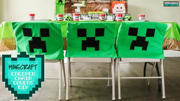 17-DIY-No-Sew-Minecraft-Creeper-Chair-Covers