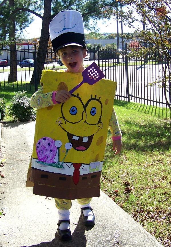17. How To Make A No Sew Spongebob Costume