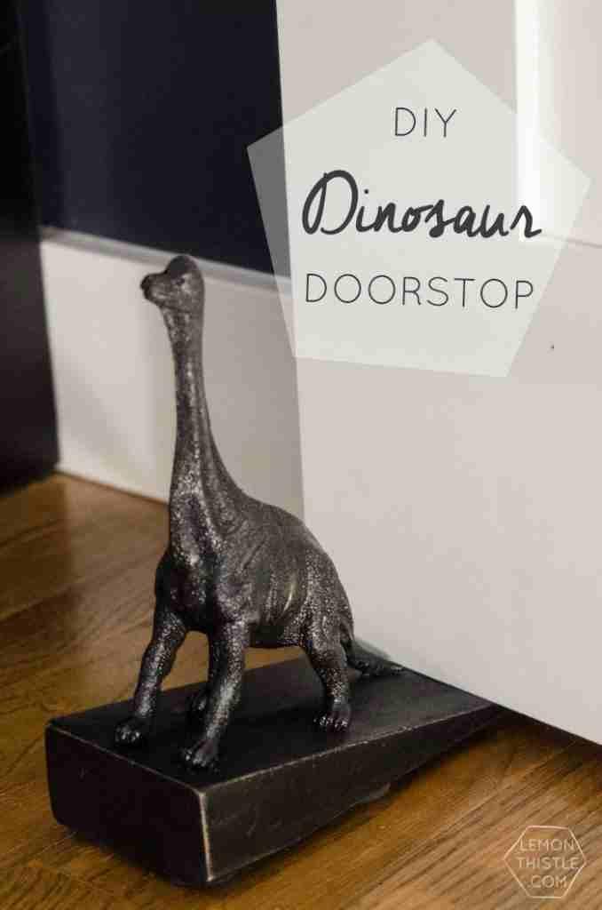18. DIY Dinosaur Door Stop-1