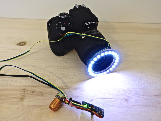 19. DIY LED Photography Ring Light