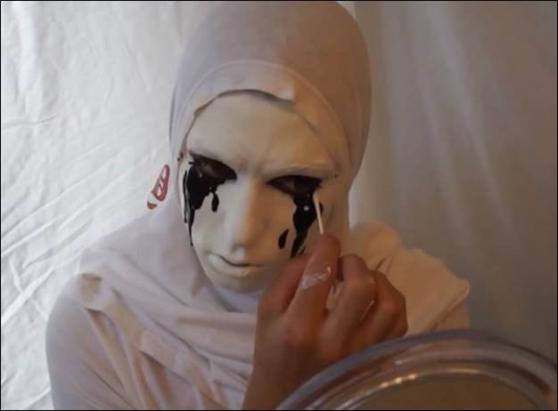 2. How To Make A Crying White Nun Costume