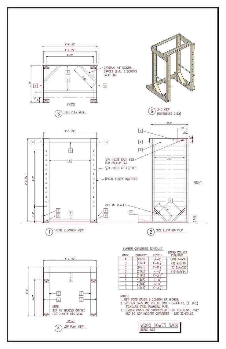 2.Top Notch DIY Squat Rack