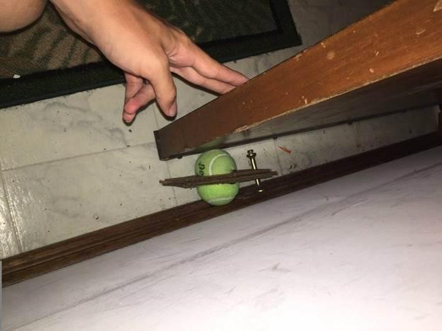 21. DIY Tennis Ball Door Stopper-1
