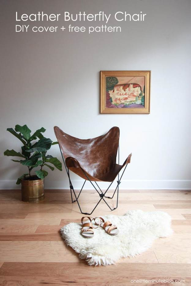 23-DIY-Leather-Butterfly-Chair-Cover