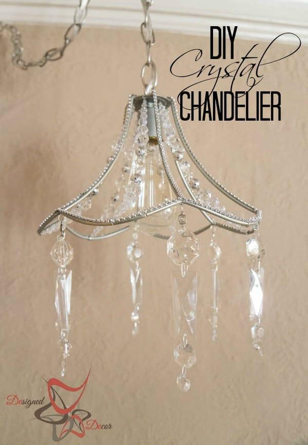 3. DIY Crystal Chandelier