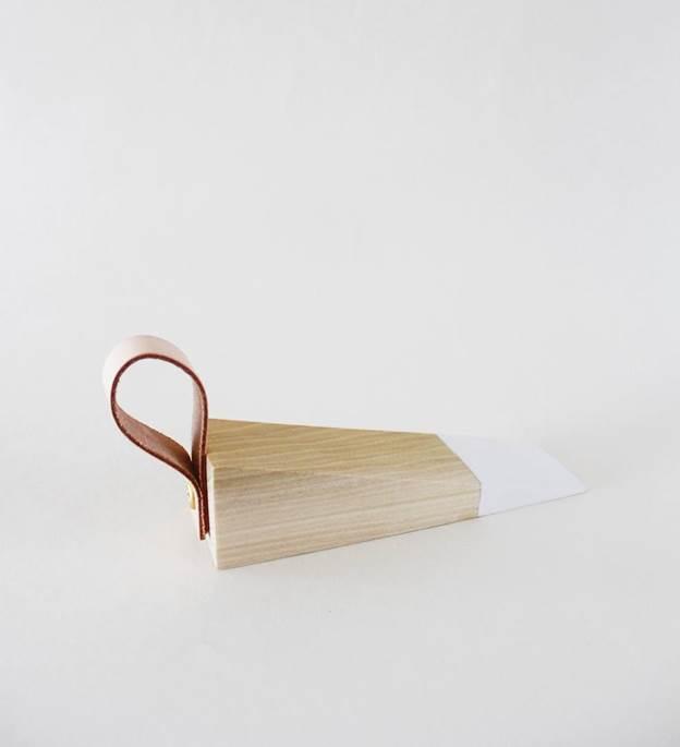 3. DIY Leather Door Stopper