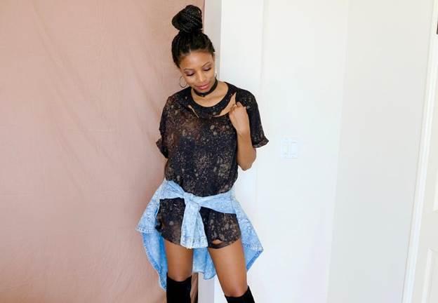 3. DIY Ripped T-shirt Dress