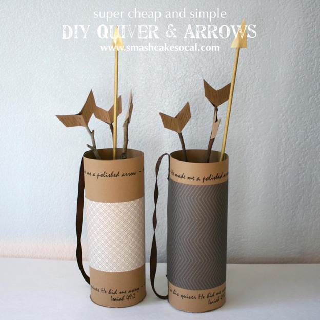 4. DIY Quiver And Arrows
