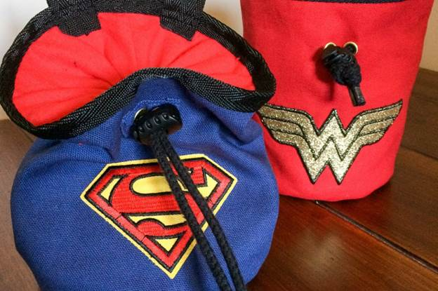 4. DIY SuperHero Chalk Bag
