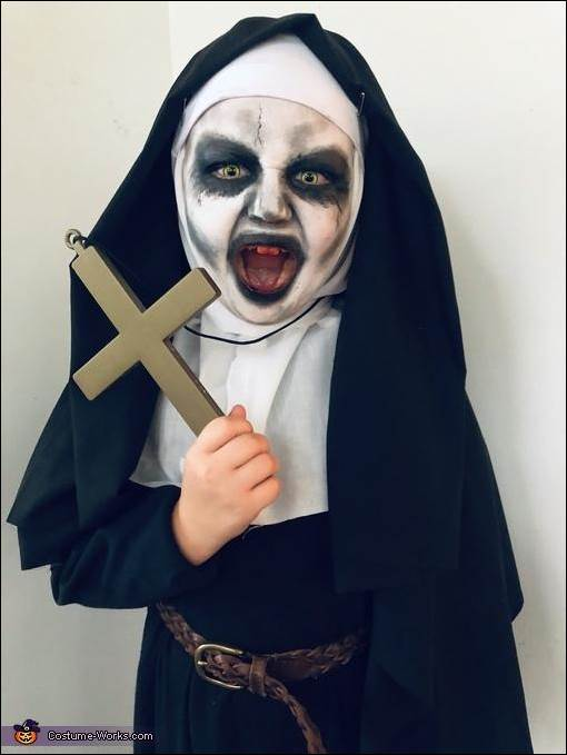 4. Scary Nun Costume Idea