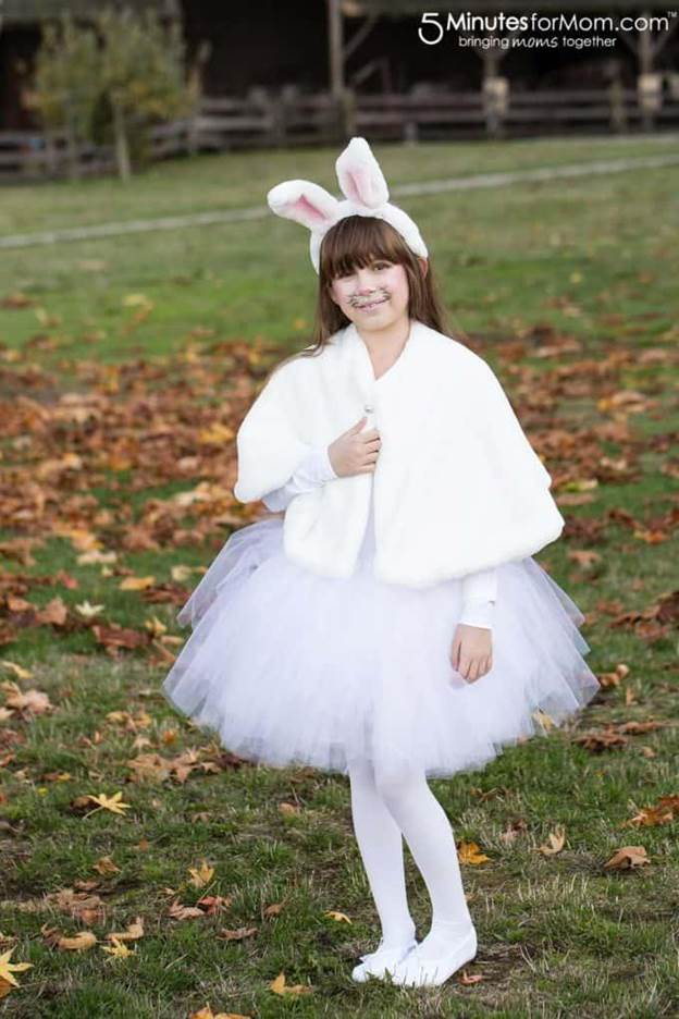 6. DIY Bunny Costume For Girls